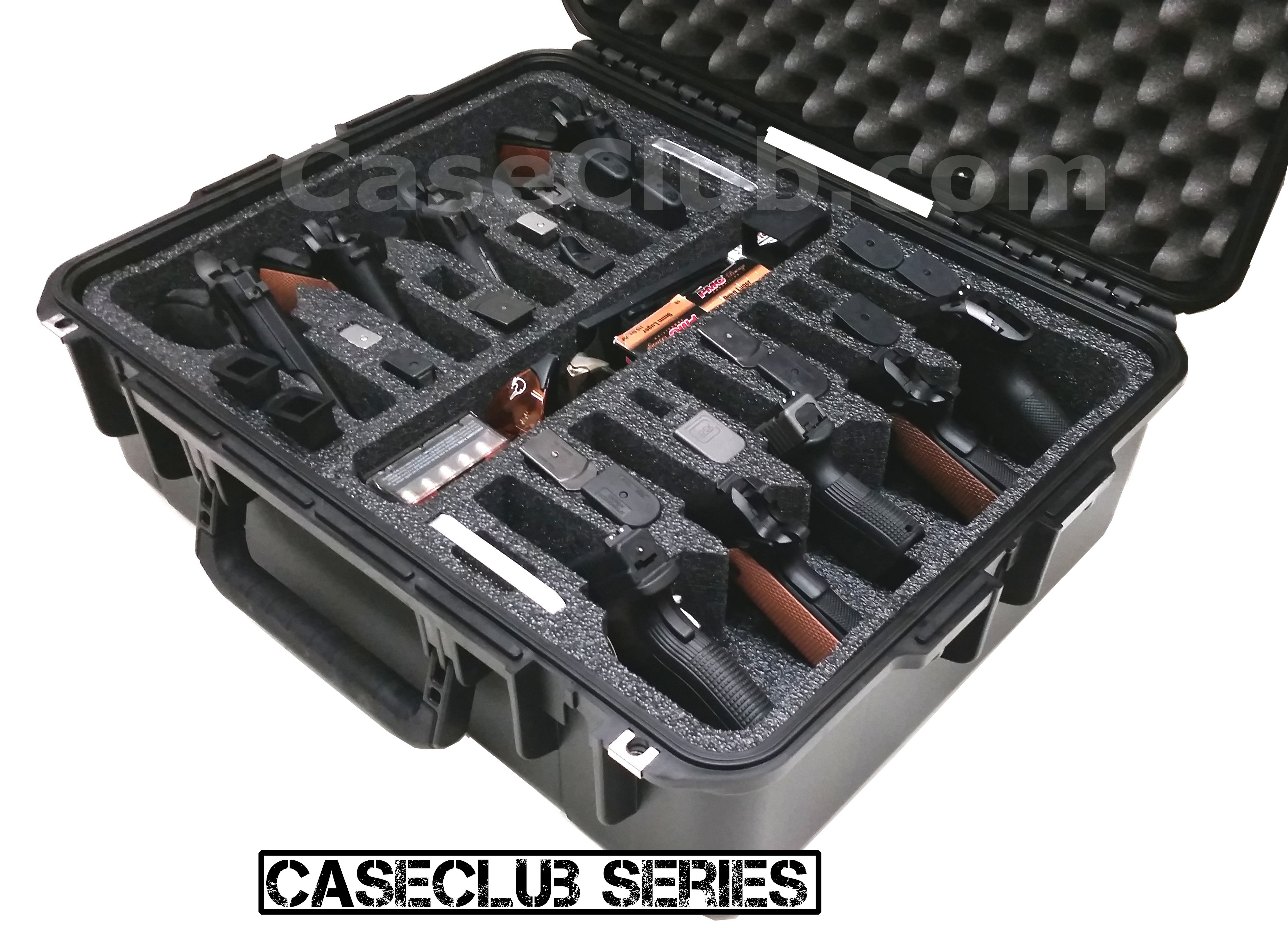 Case Club Waterproof 10 Pistol Case With Silica Gel