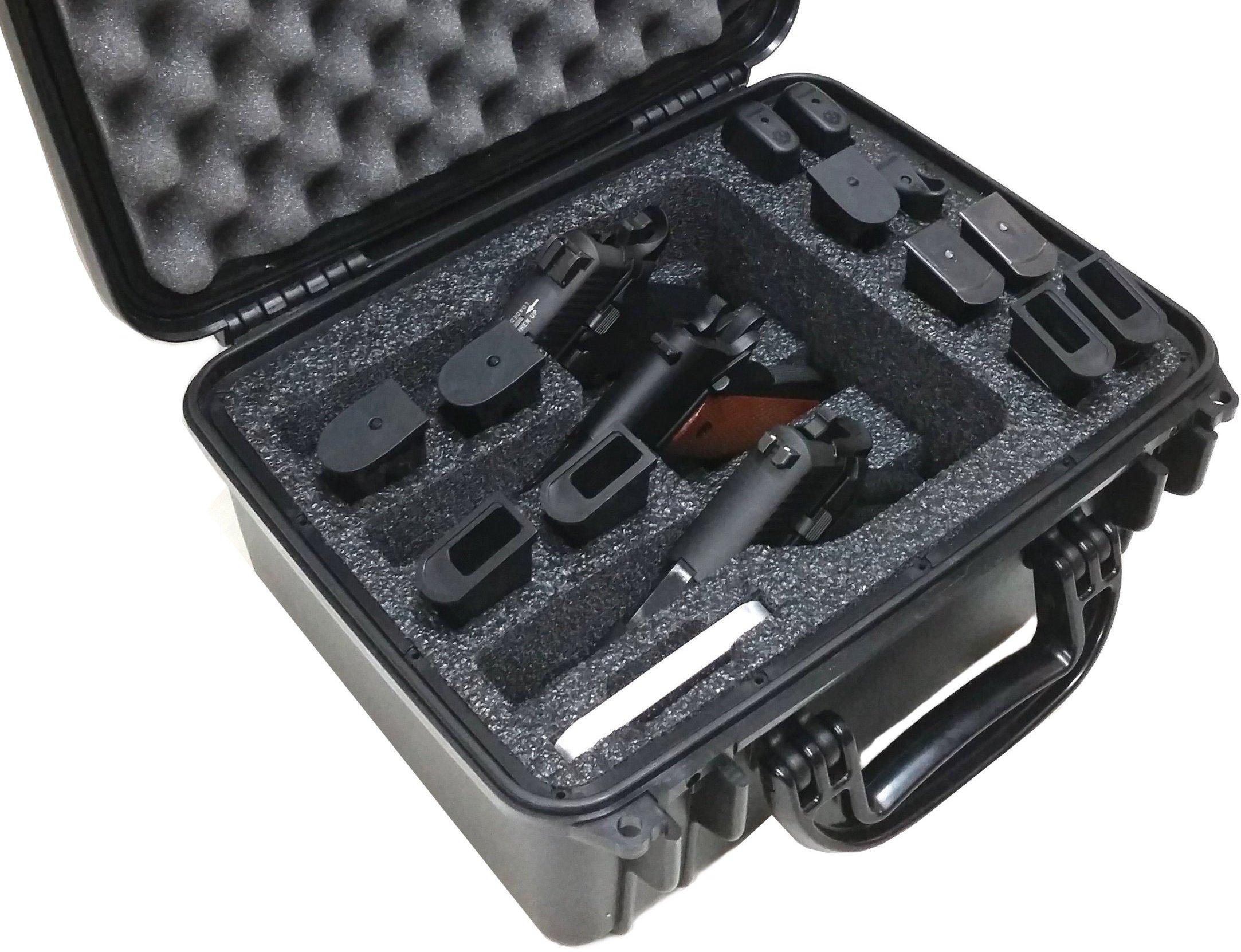 Seahorse 520 Case Custom Foam Example: 3 Pistol Case