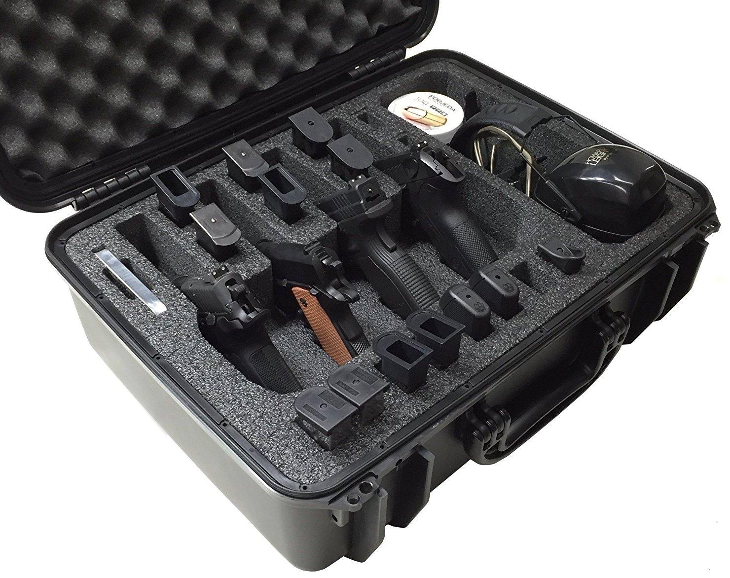 Case Club CC720SE Case Custom Foam Example: 4 Pistol