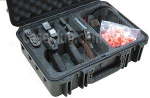 3 Pistol & Accessory Case - Custom Foam Example