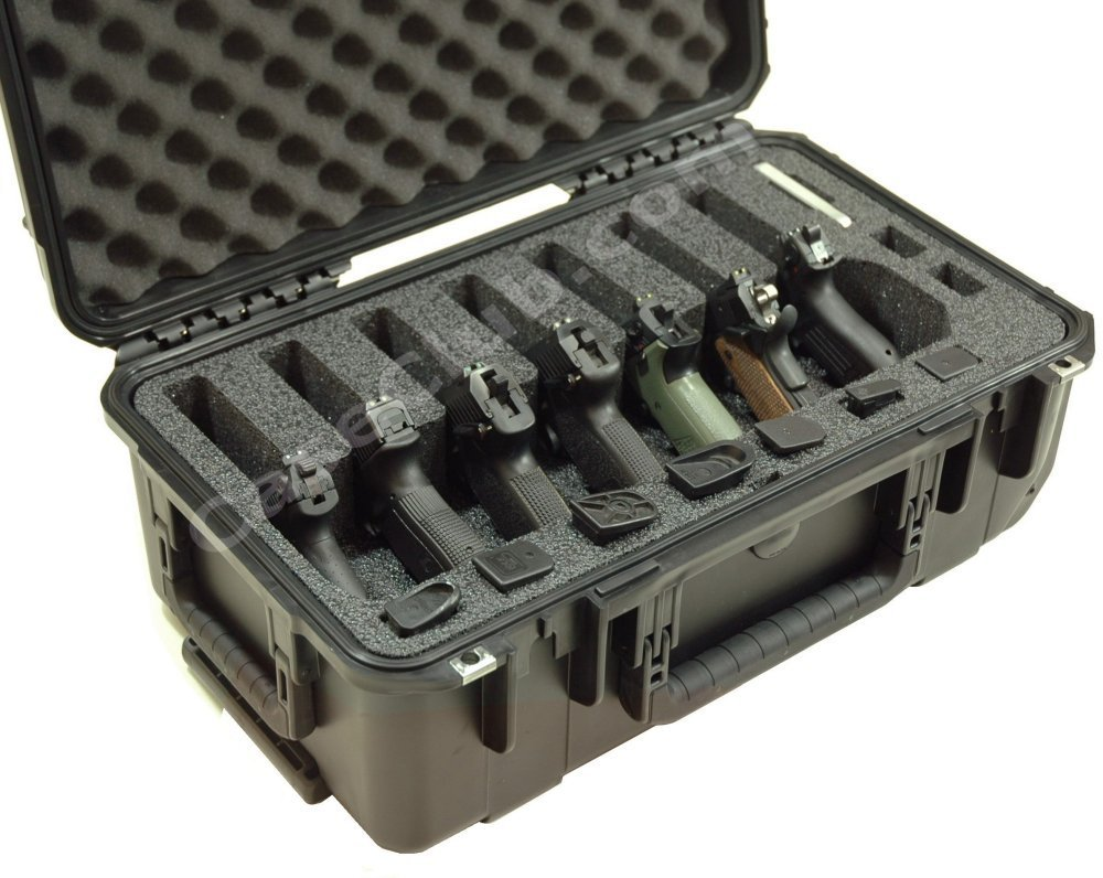 Case Club CC201173ISK Case Custom Foam Example: 7 Pistol Case