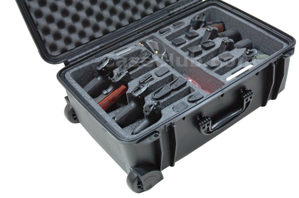 Case Club CC920SE Case Custom Foam Example: 8 Pistol Case