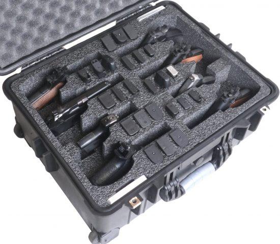 8 Pistol Case (Wheeled) (Gen-2) - Foam Example