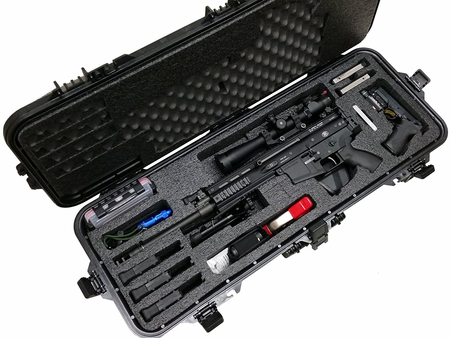 Case Club Waterproof FNH Scar 17S Rifle Case with Silica Gel & Accessory Box