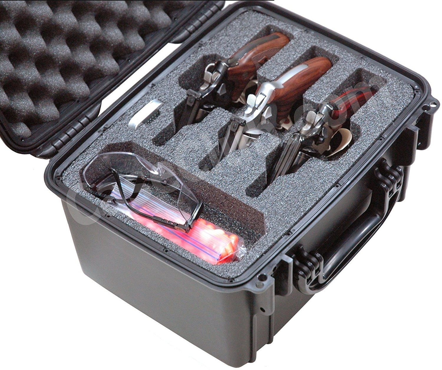 Case Club CC540SE Case Custom Foam Example: 3 Revolver Case