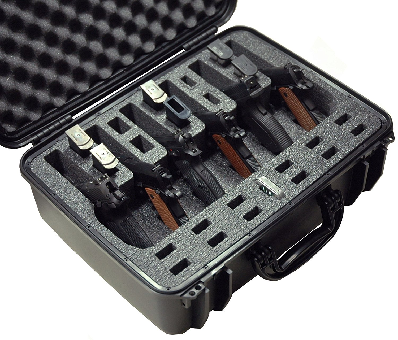 Case Club CC720SE Case Custom Foam Example: 6 Pistol Case