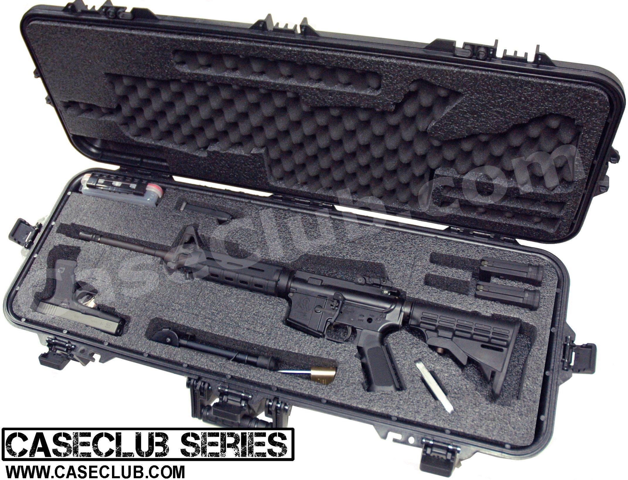 Case Club Waterproof AR15 Rifle Case with Silica Gel ...