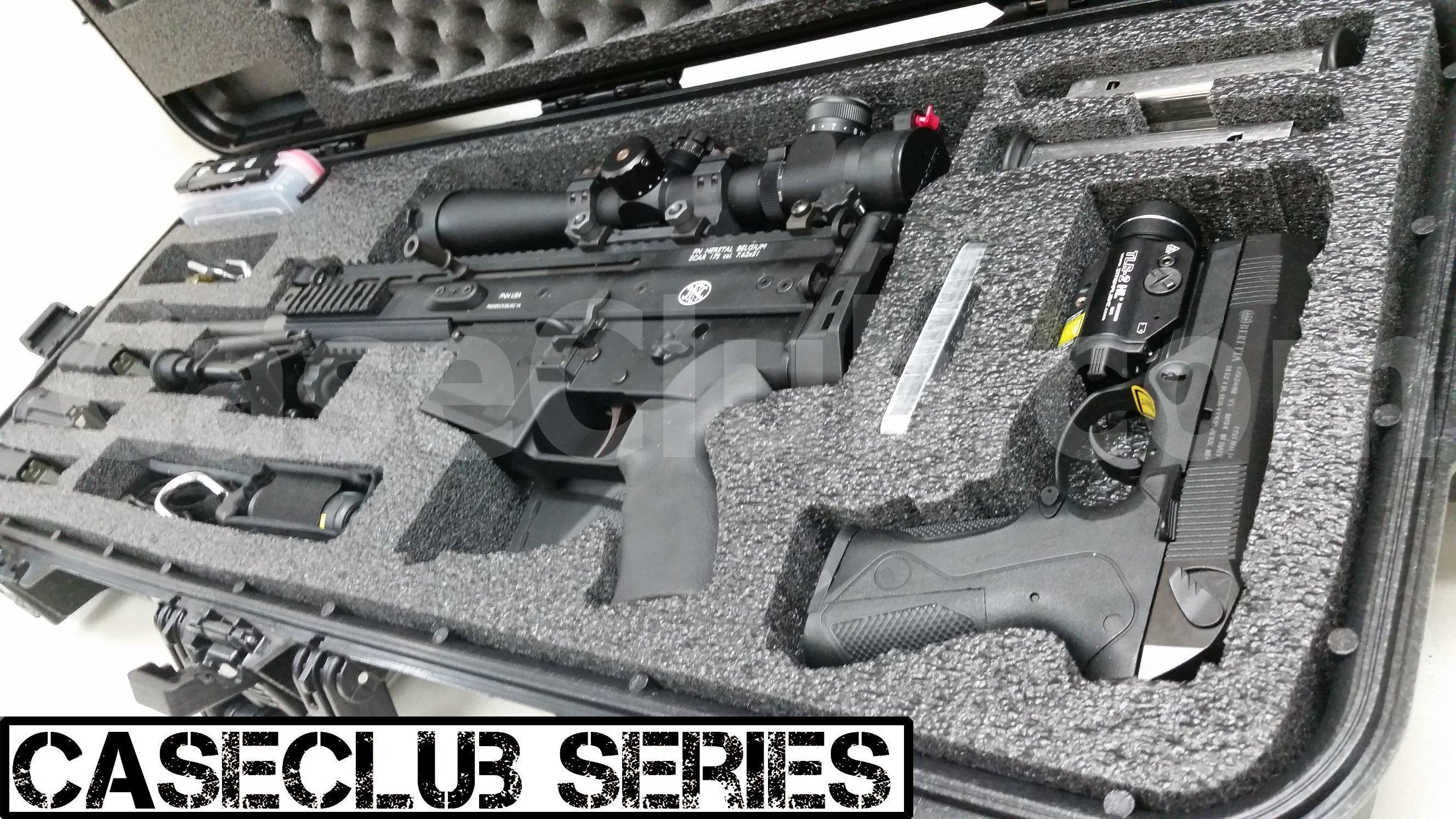Case Club Waterproof FNH Scar 17S Rifle Case with Silica Gel & Accessory Box