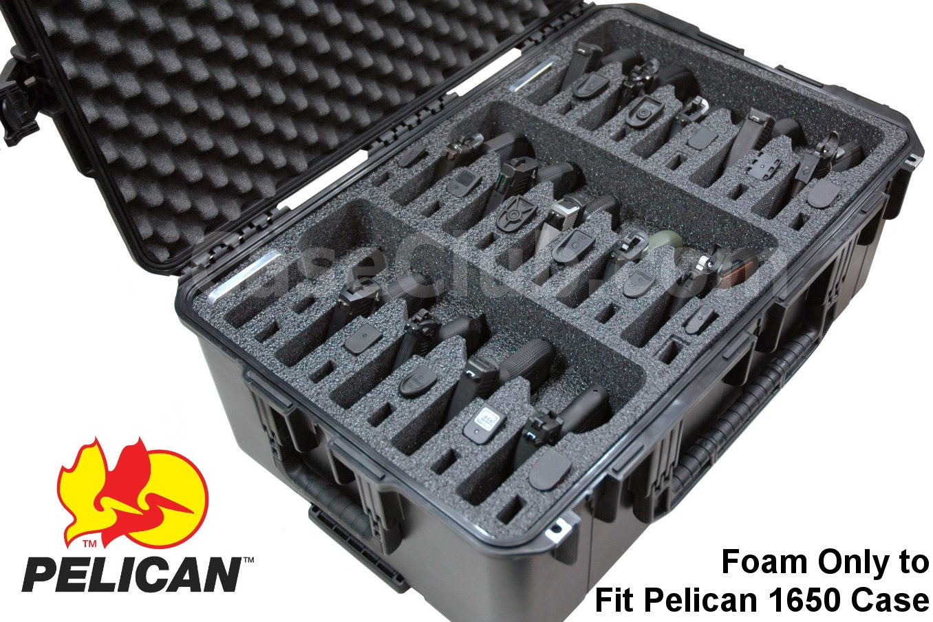 Pelican™ 1650 Case Custom Foam Example: 15 Pistol Foam Only For The Pelican™ 1650 Case