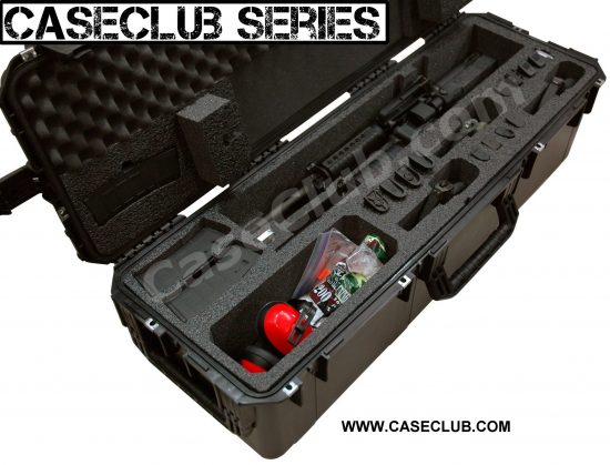 2 AR15 Rifle & 3 Pistol Case - Foam Example