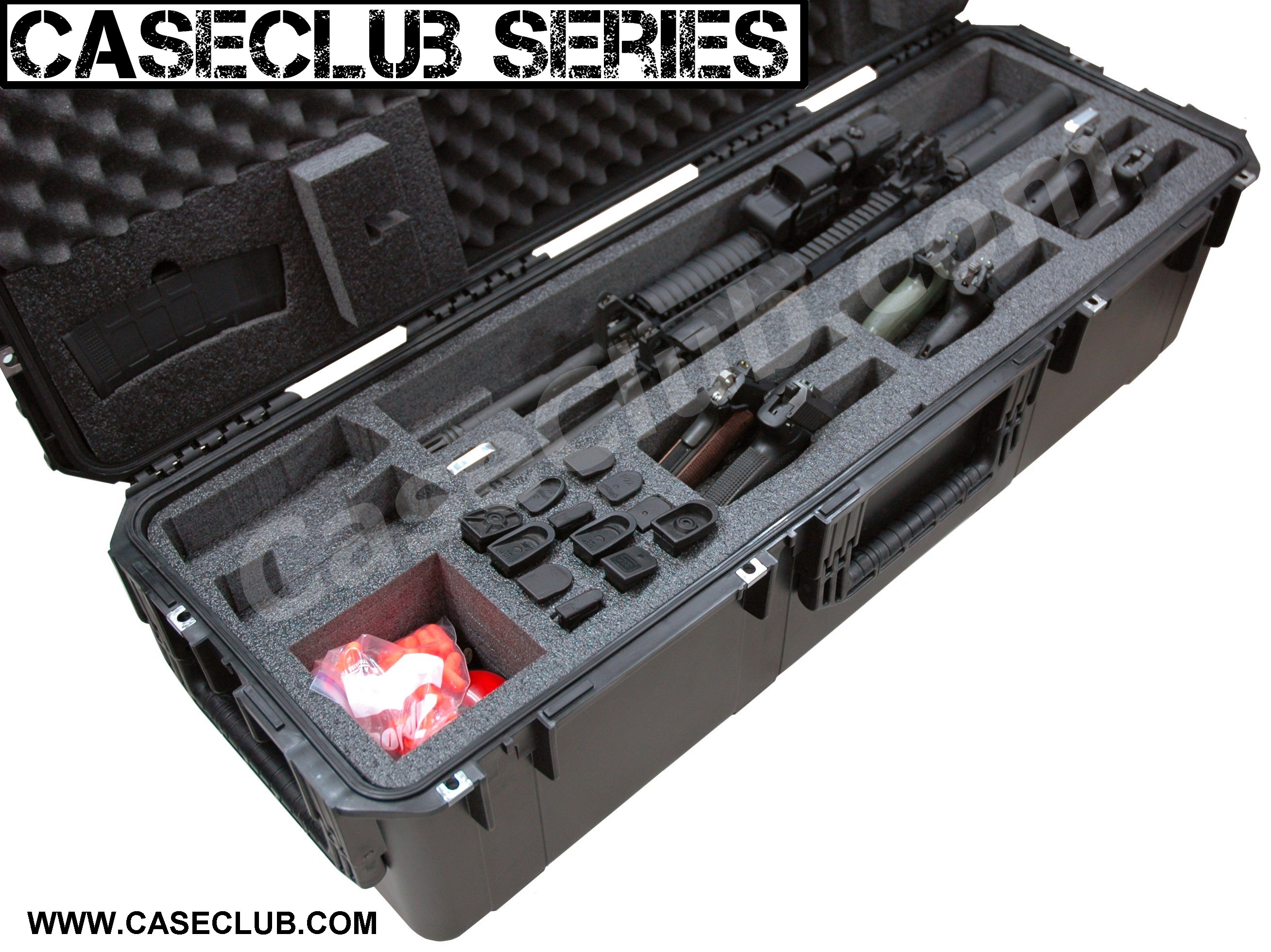 Case Club CC4213123ISK Case Custom Foam Example: 2 AR15 Rifle