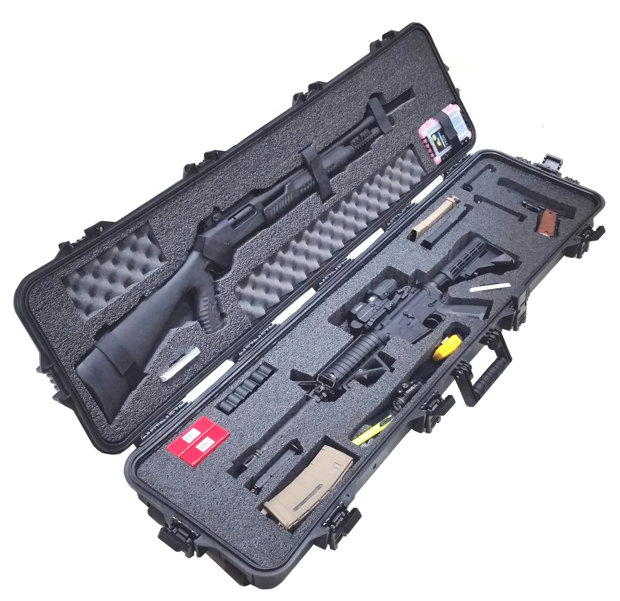 Case Club CC108187PL Case Custom Foam Example: 3 Gun Competition Case