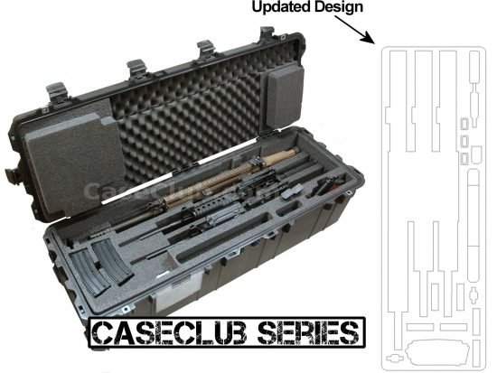 3 Rifle & 1 Pistol Case - Foam Example
