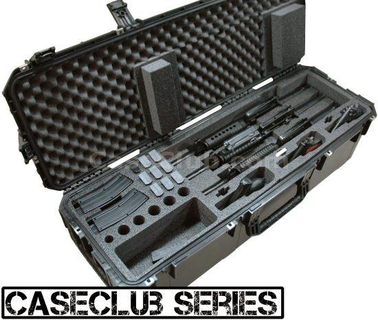 3 Short Barrel AR15 Rifle & 3 Pistol Case - Foam Example