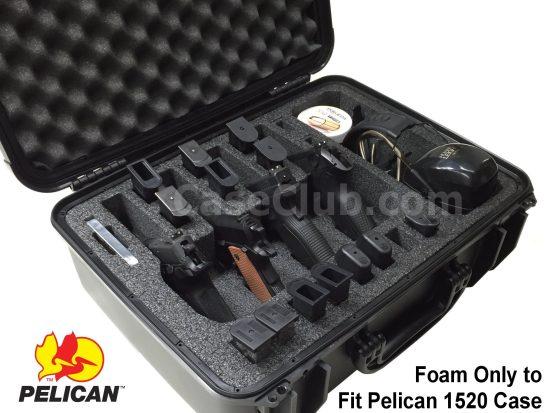 4 Pistol & Accessory Foam Only for the Pelican™ 1520 Case - Foam Example