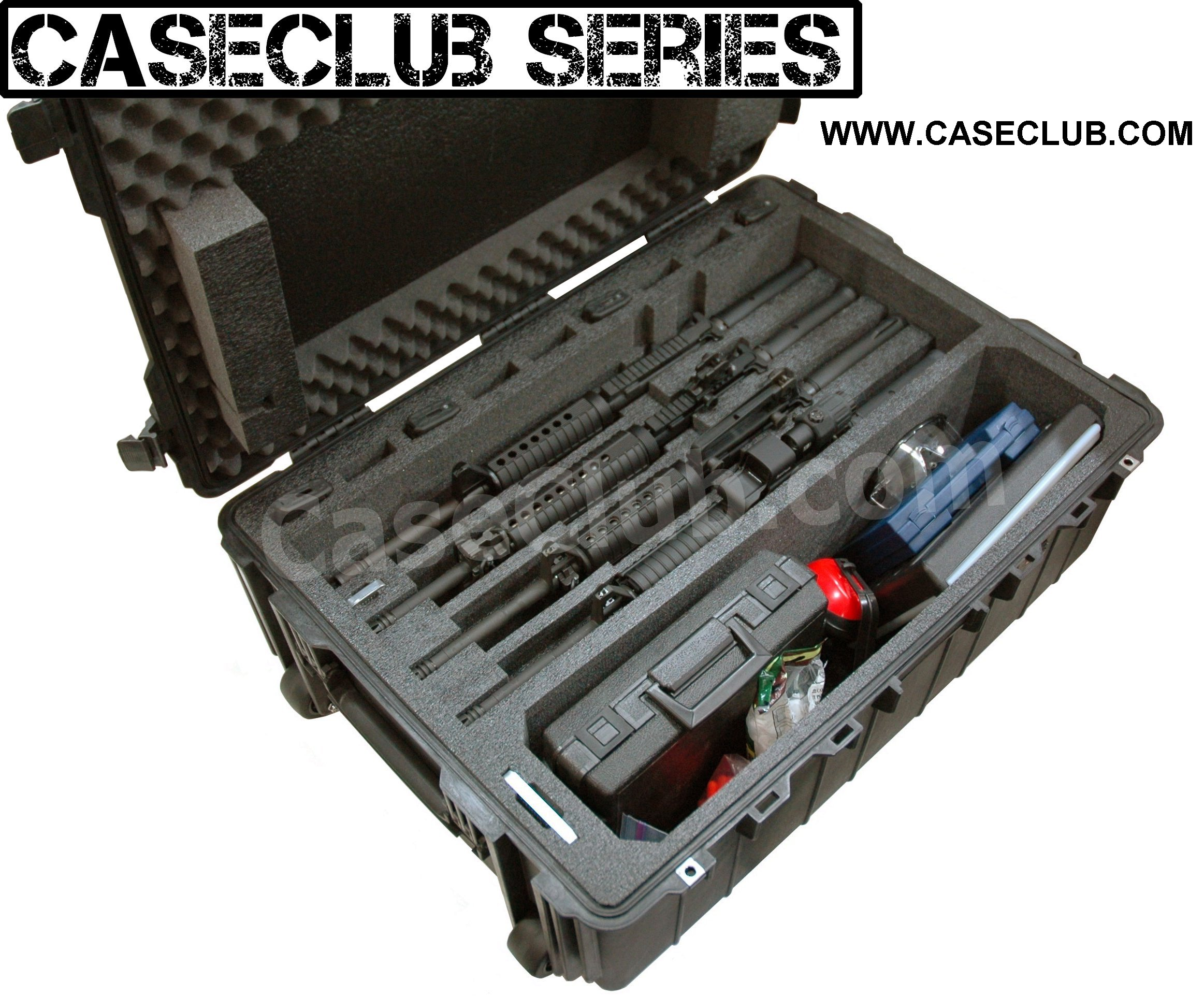 Pelican™ 1730 Case Custom Foam Example: 4 AR15 Rifle