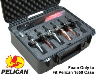 6 Revolver Foam Only for the Pelican™ 1550 Case - Foam Example