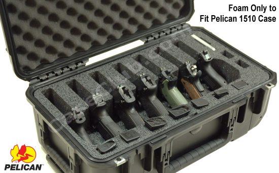 7 Pistol Foam Only for the Pelican™ 1510 Case - Foam Example