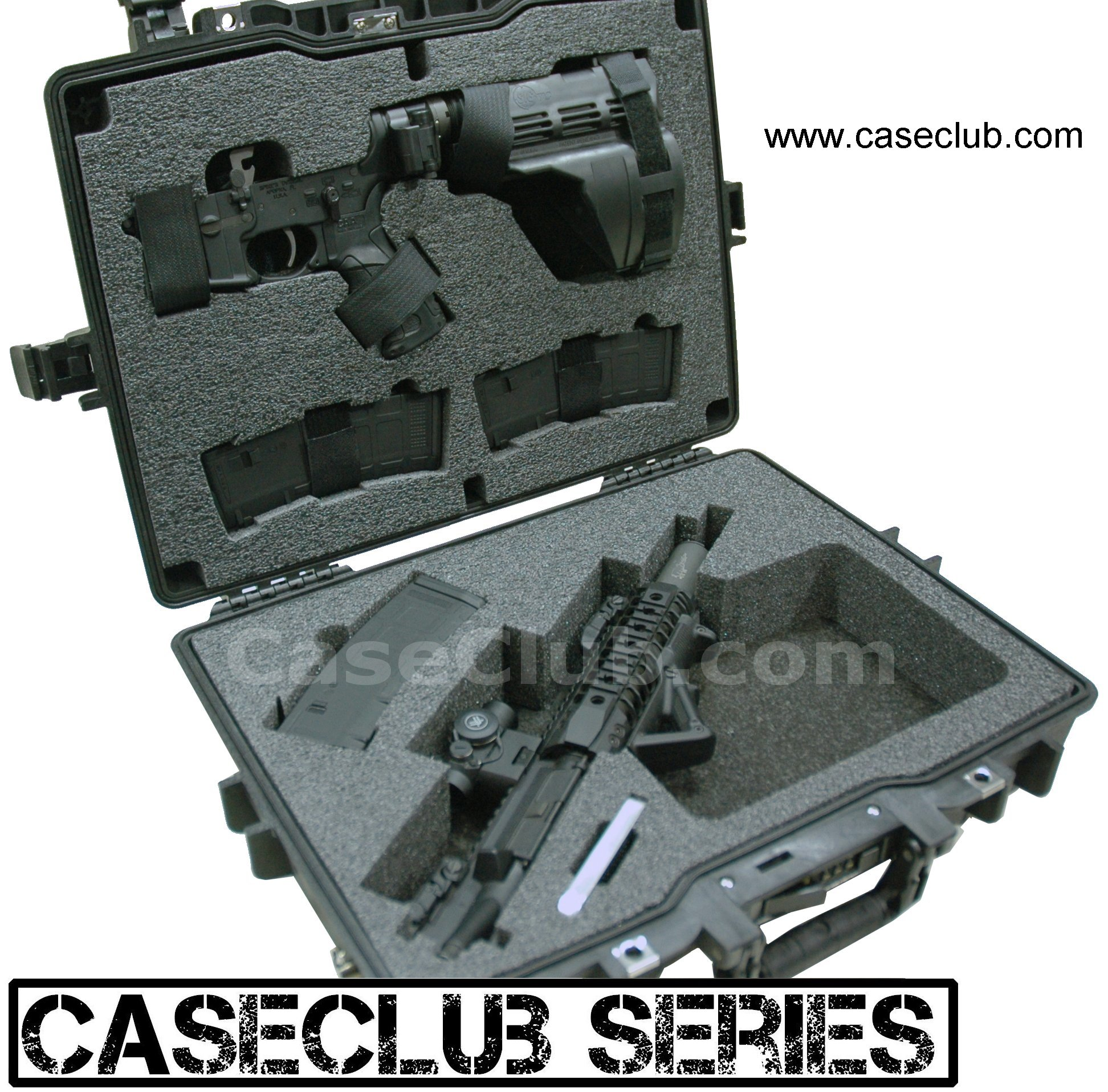 Case Club CC5941PE Case Custom Foam Example: Breakdown AR-SBR