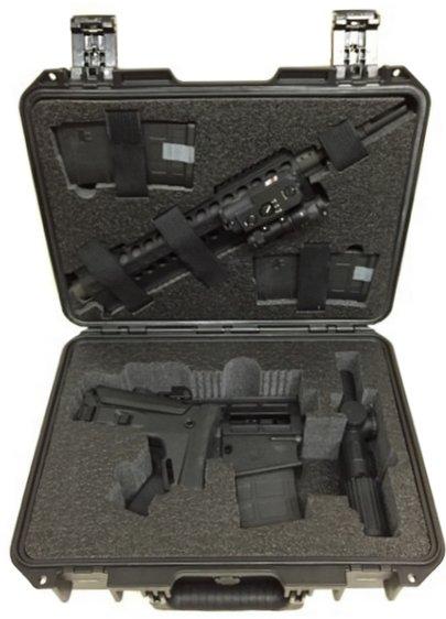 Case Club CC2300IMPE Case Custom Foam Example: Breakdown DRD Tactical Paratus Rifle Case