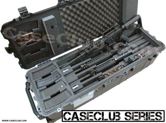 4 AR15 Carbine Rifle Case - Foam Example