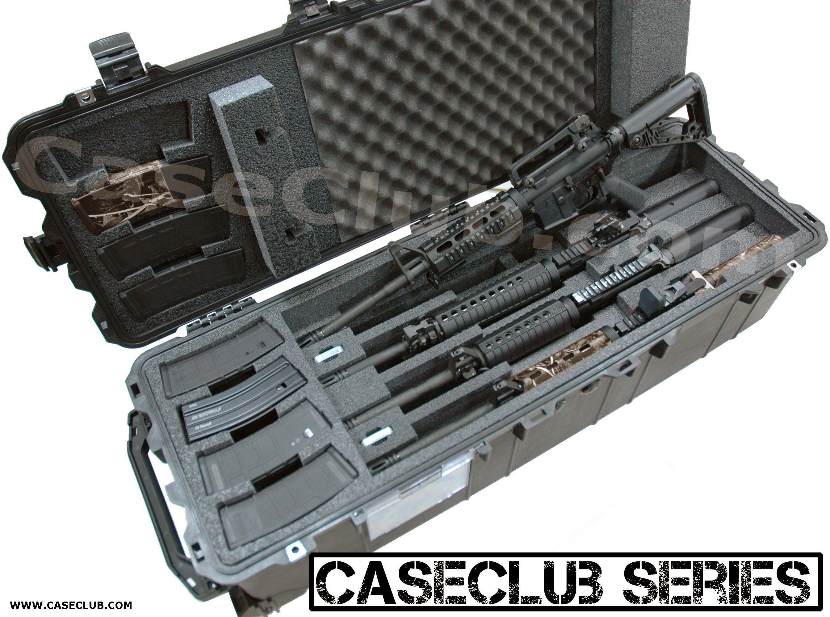 Case Club CC0471PE Case Custom Foam Example: 4 AR15 Rifle Case