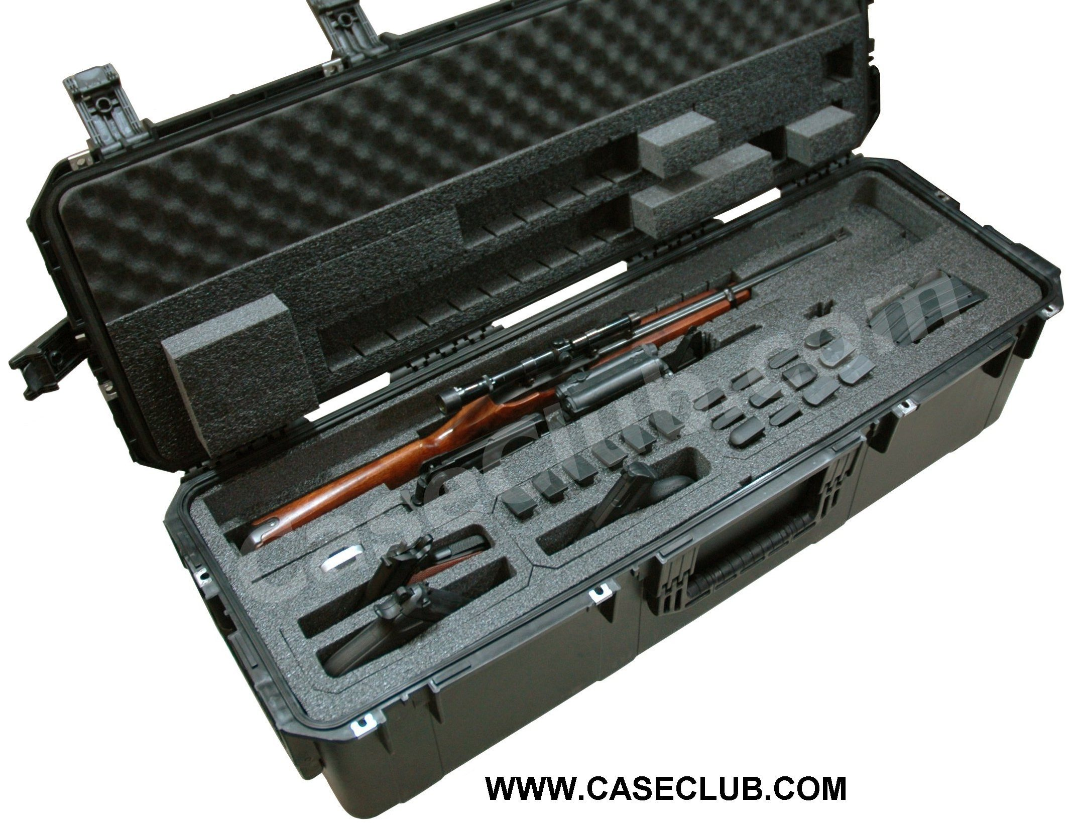 Case Club CC4213123ISK Case Custom Foam Example: Universal 2 Rifle Case