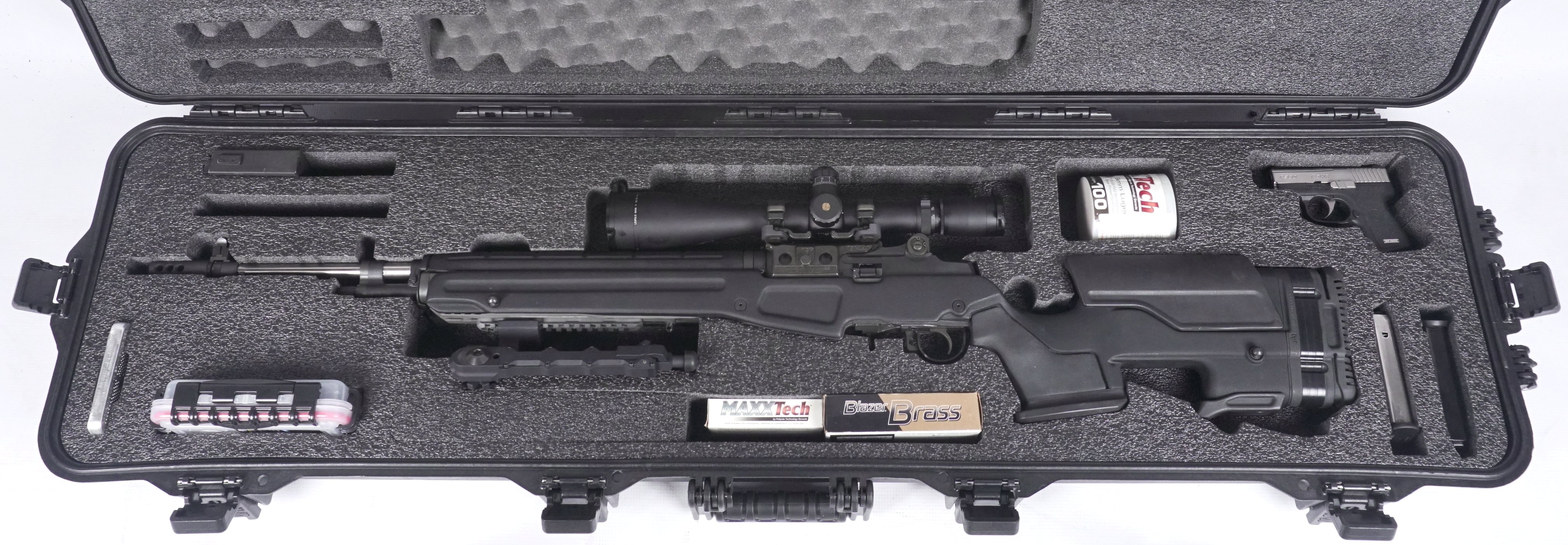 Case Club Waterproof Springfield M1A Rifle Case with Silica Gel & Accessory  Box