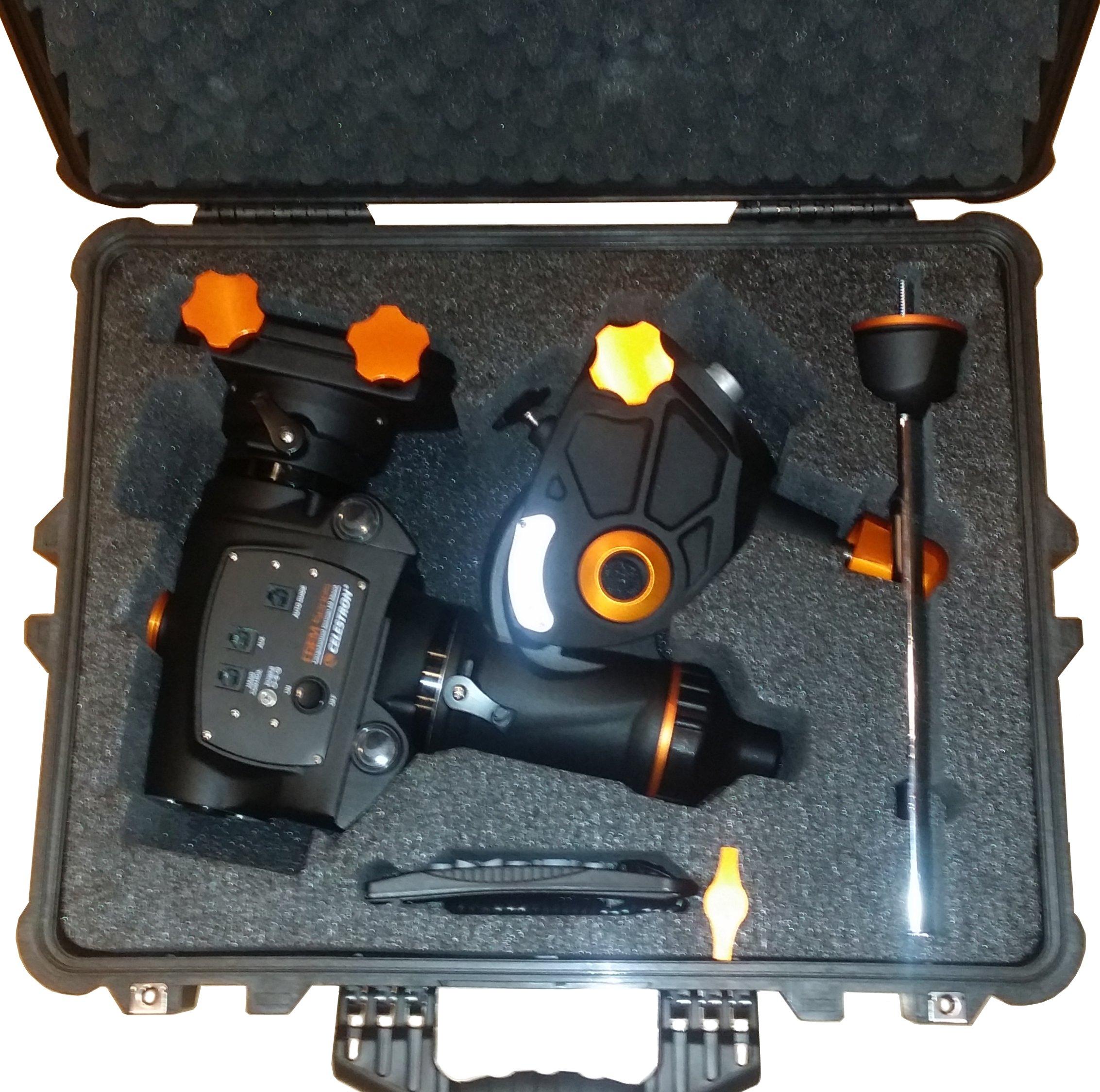 Pelican™ 1600 Case Custom Foam Example: Celestron CGEM Case