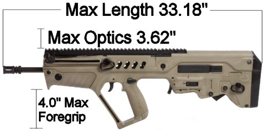 Case Club Waterproof IWI Tavor Rifle Case with Silica Gel
