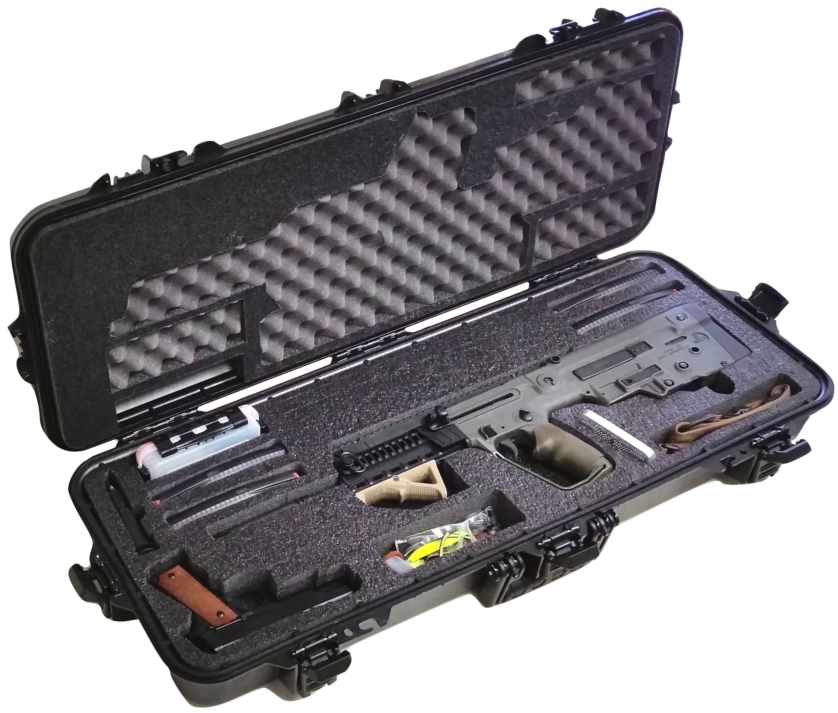 Case Club CC108361PL Case Custom Foam Example: IWI Tavor Rifle Case