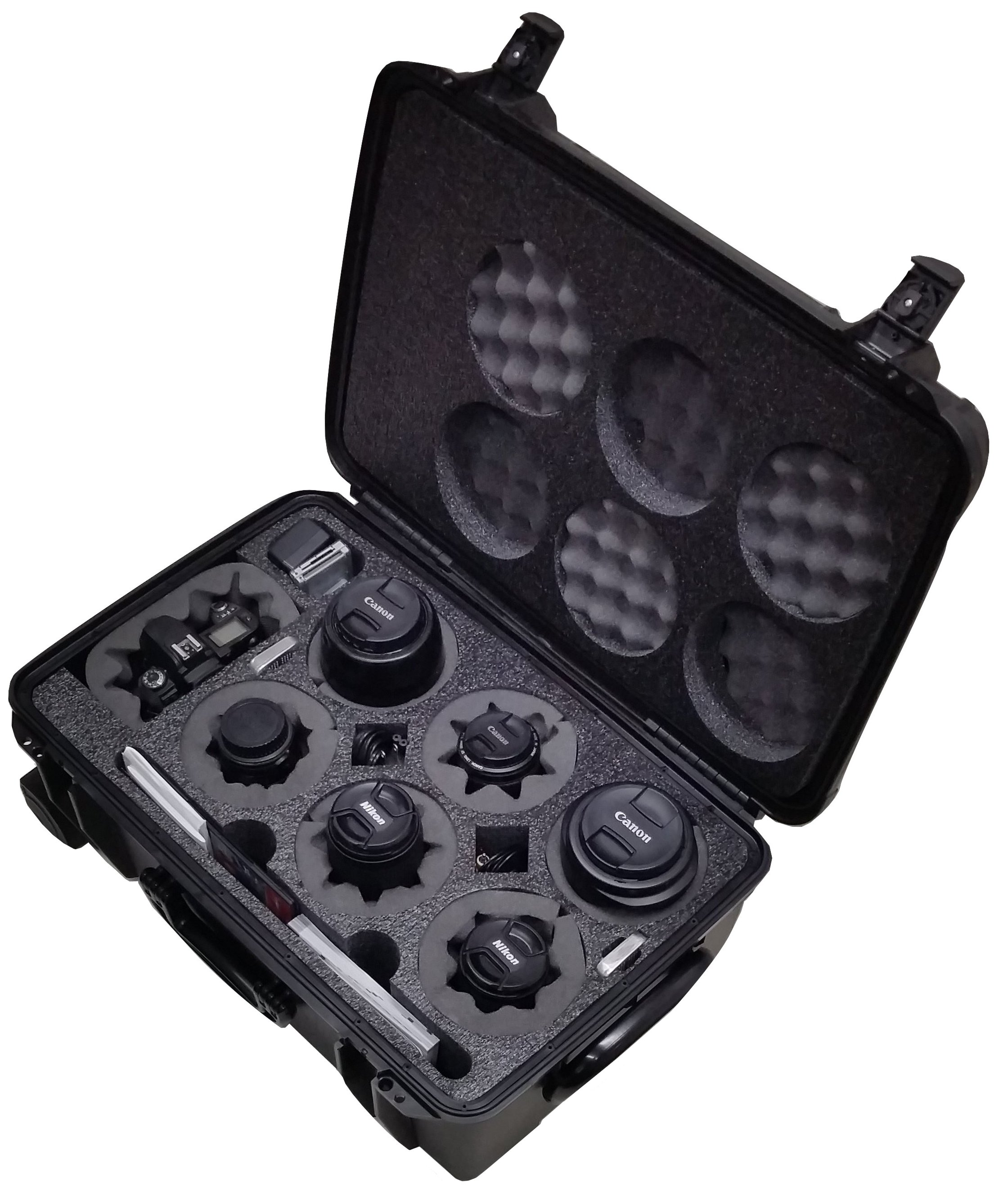 Case Club Waterproof DSLR 6 Lens Camera Case with Included Moisture Absorbing Silica Gel