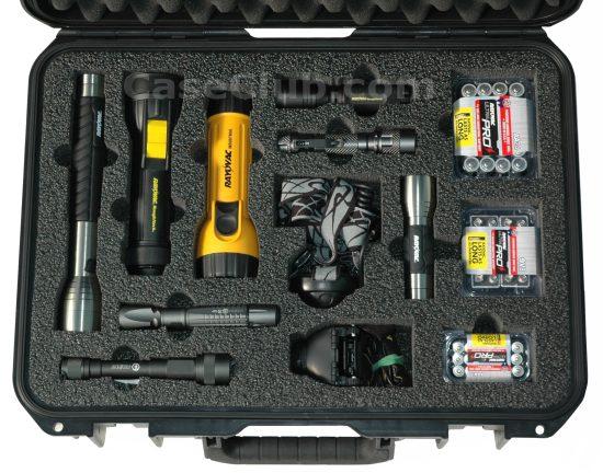 Rayovac Assorted Flashlight Case - Foam Example