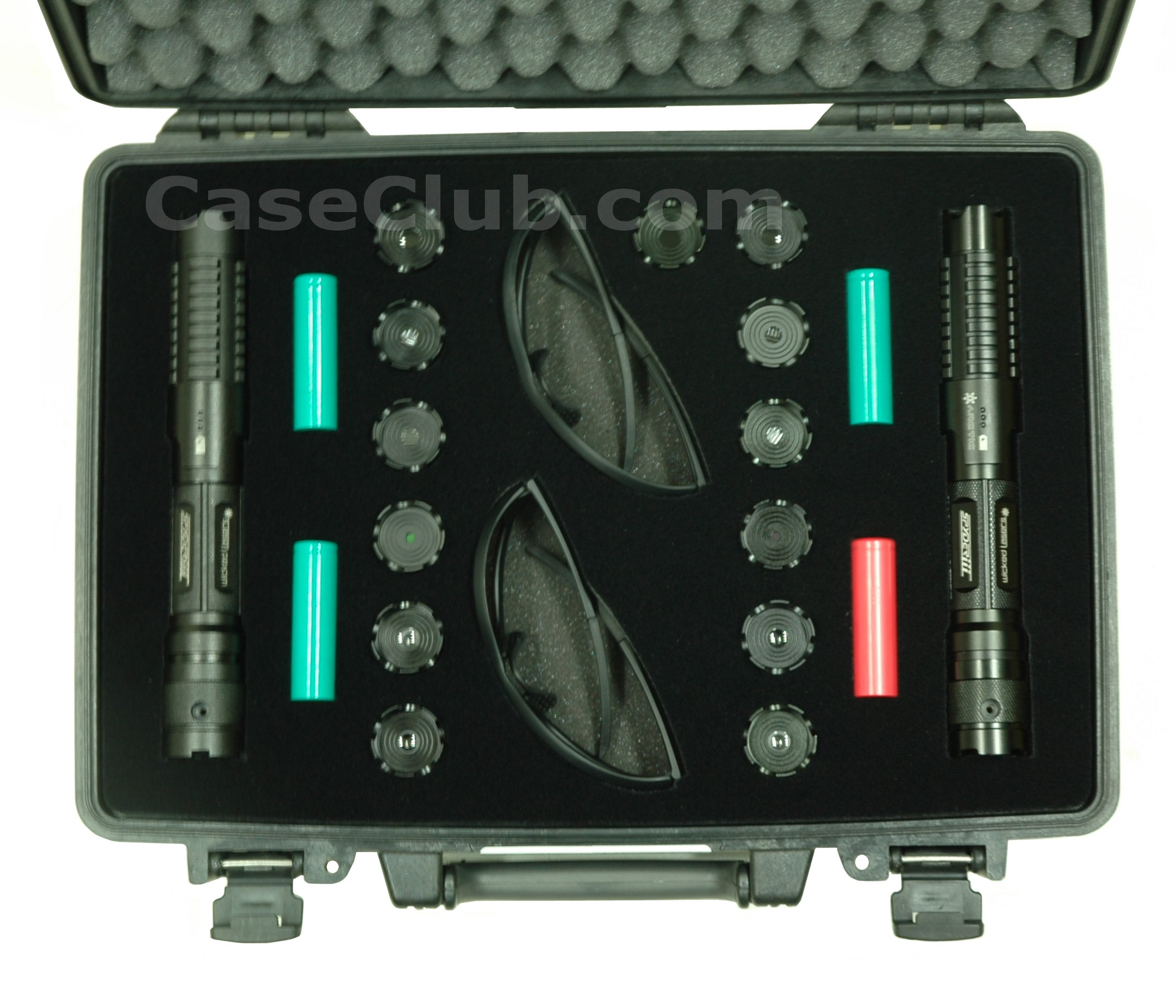 Pelican 1470 Case Custom Foam Example: Wicked Lasers Spyder 3 Case