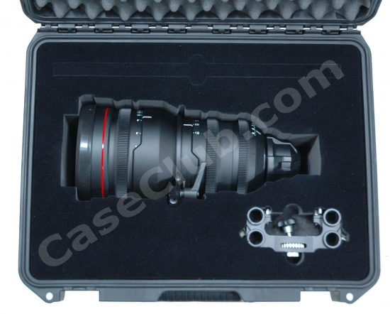 Red 18-85 2.9 Zoom Lens Case - Foam Example