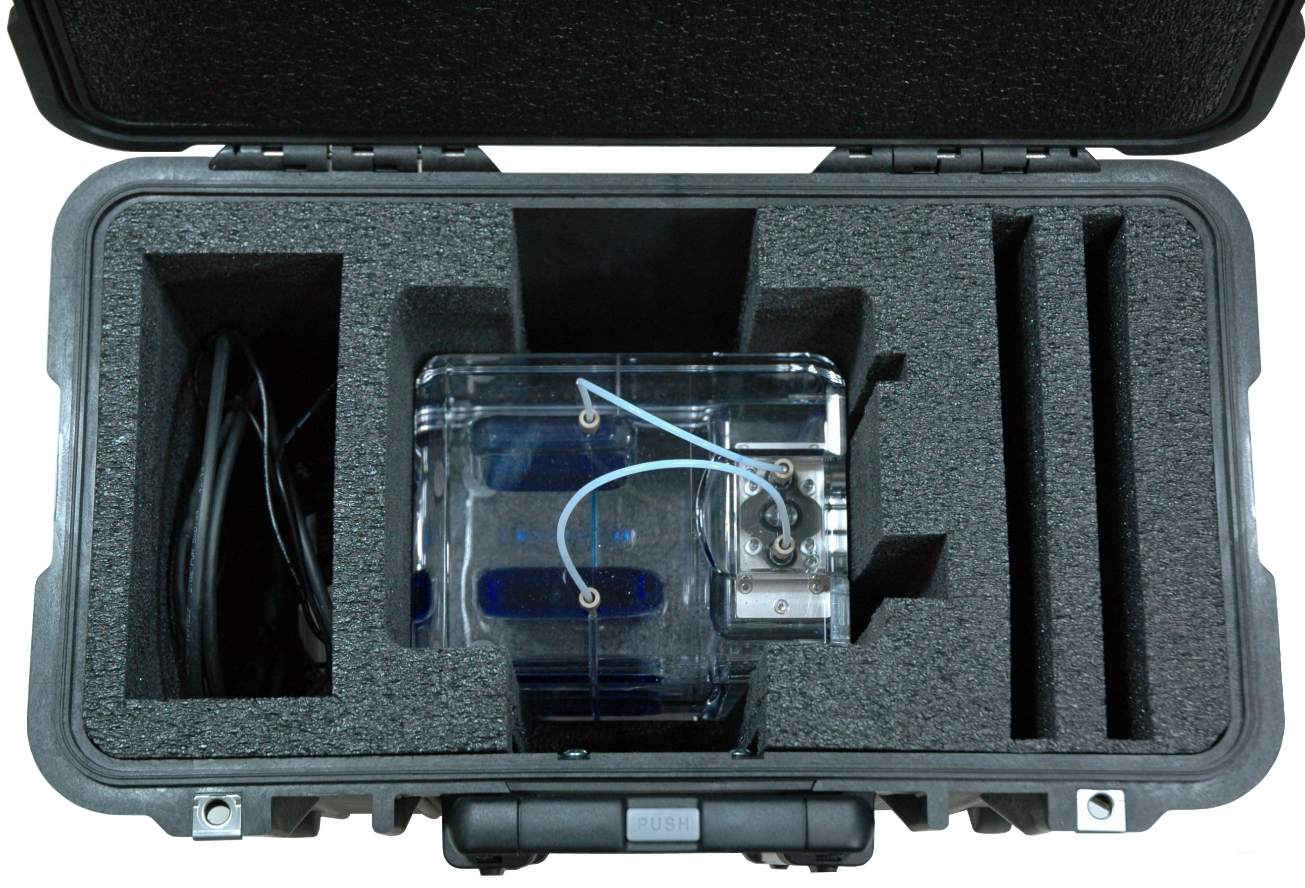 Pelican™ 1440 Case Custom Foam Example: Burkert Fluid Control System Case