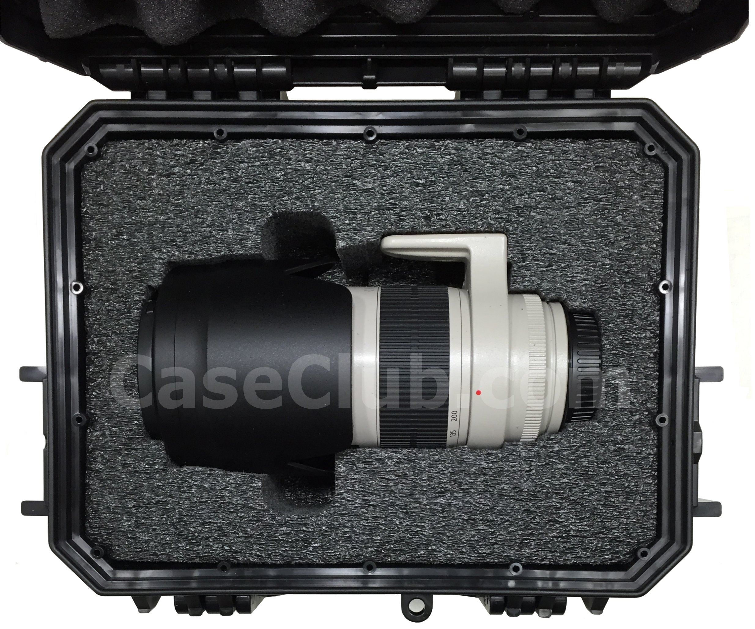 Case Club CC430SE Case Custom Foam Example: Canon 70-200mm Lens Case Case