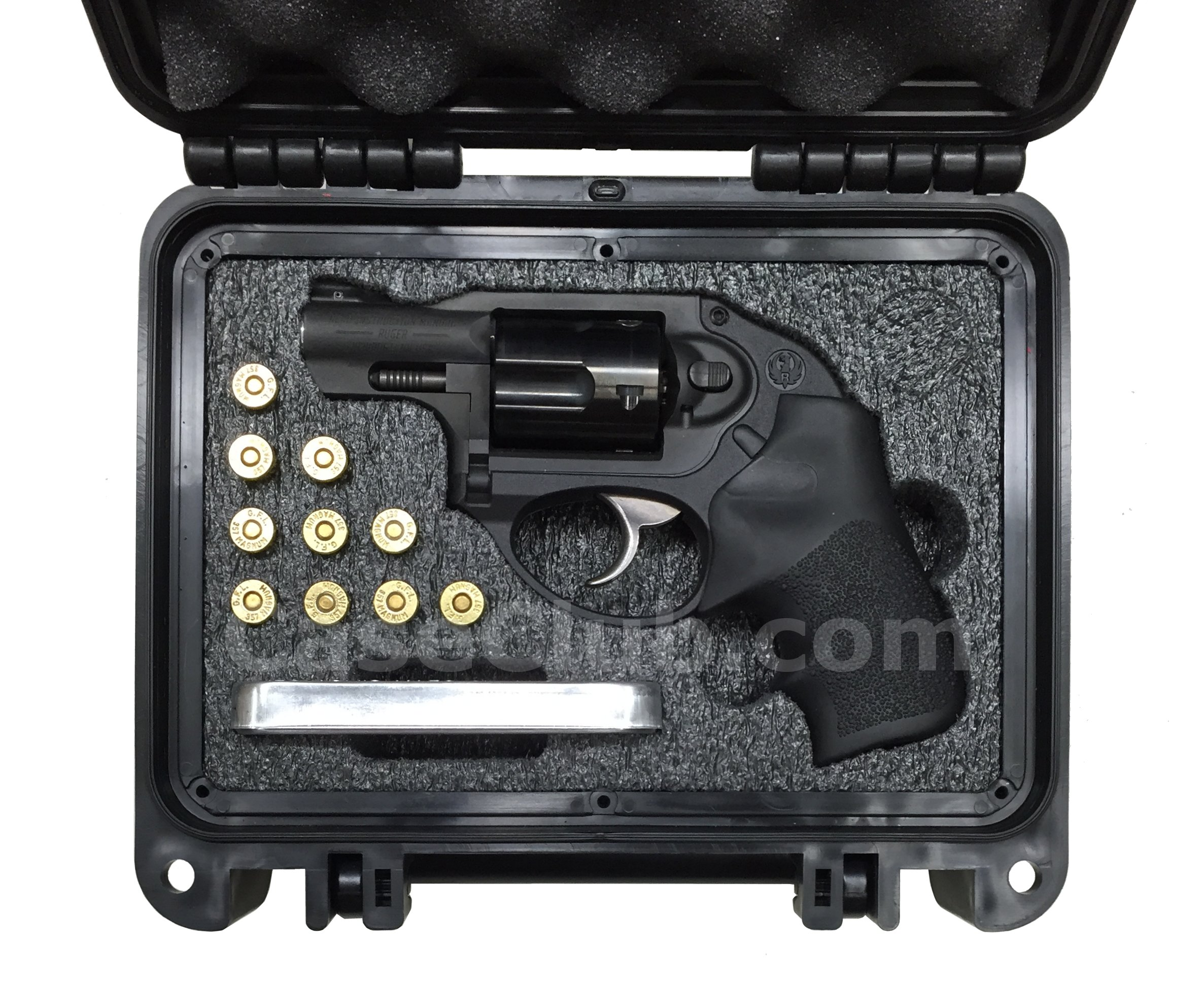 Seahorse 120 Case Custom Foam Example: Ruger LCR Revolver Case