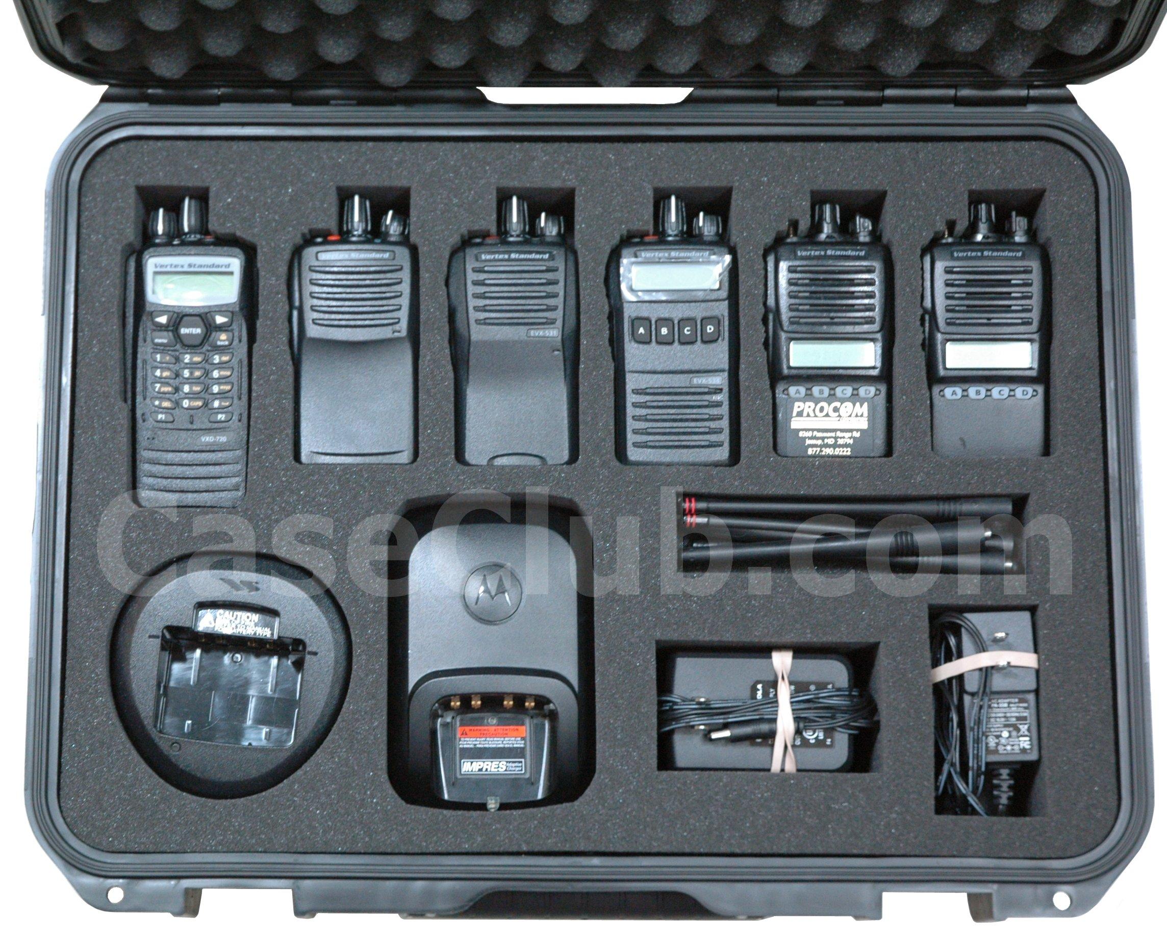 SKB 3I-1813-5 Case Custom Foam Example: Vertex Standard Radio Case