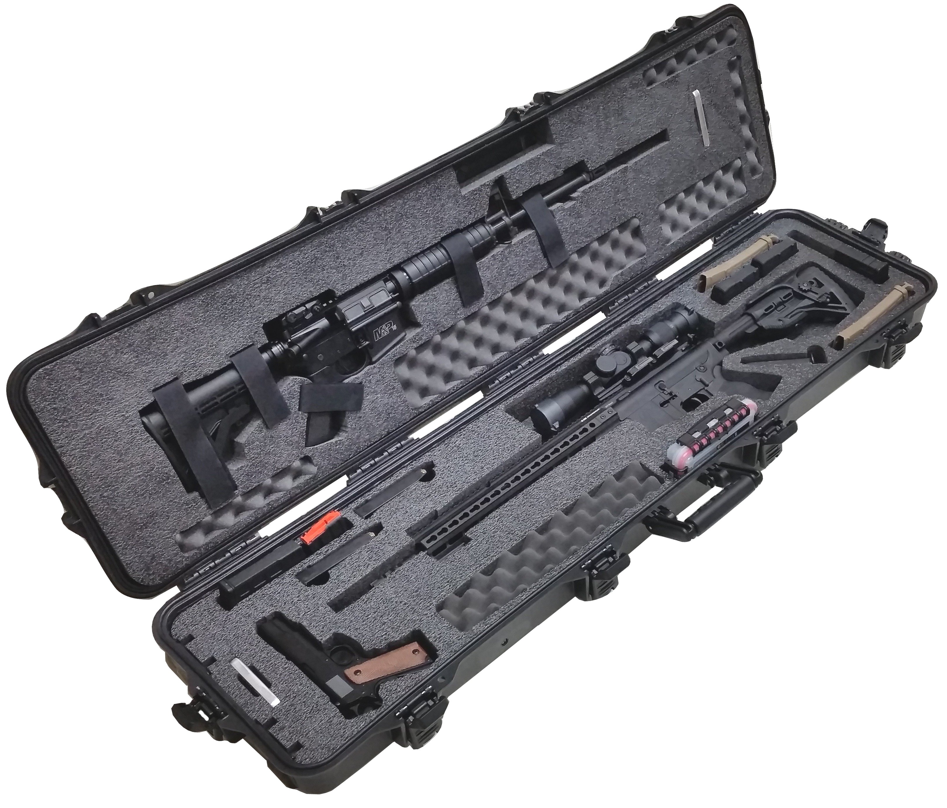 Case Club CC108187PL Case Custom Foam Example: 2 AR Rifle Case