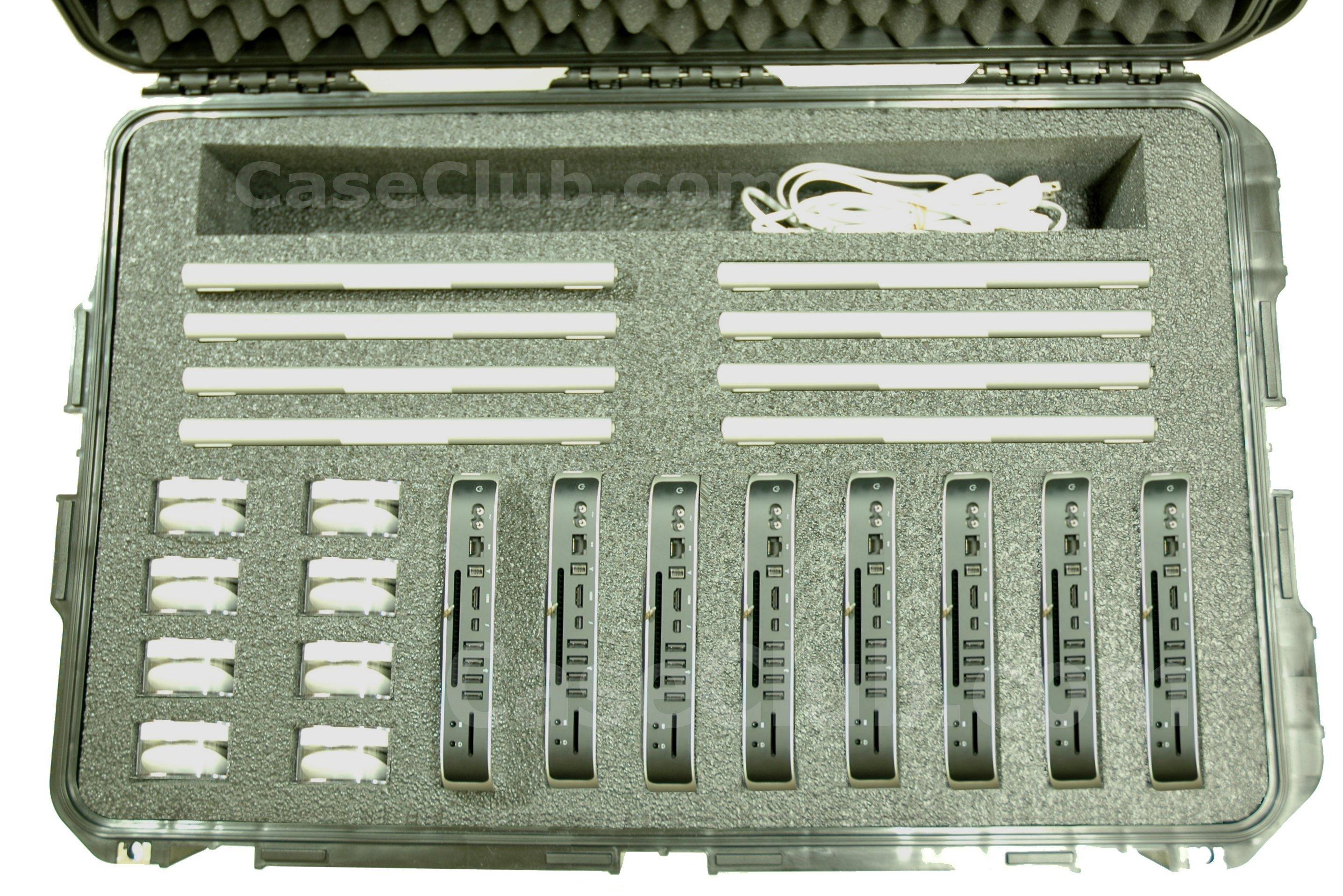 Case Club CC2918103ISK Case Custom Foam Example: 8 Mac Mini Case
