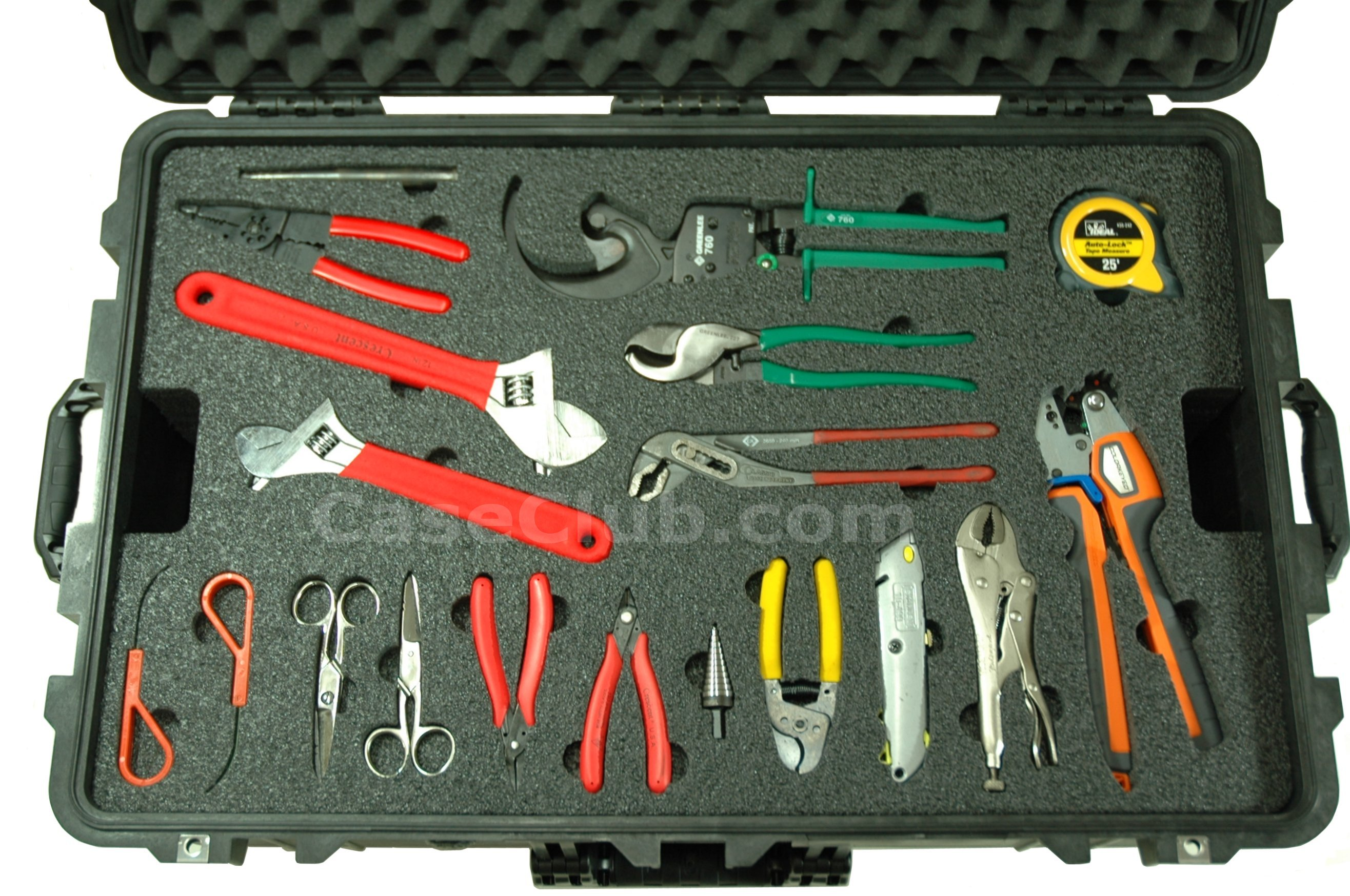 Pelican™ 1650 Case Custom Foam Example: Assorted Tool Case 2