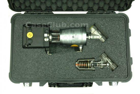 Schubert & Salzer 7020 Control Valve with 7010 Cut Away Case - Foam Example
