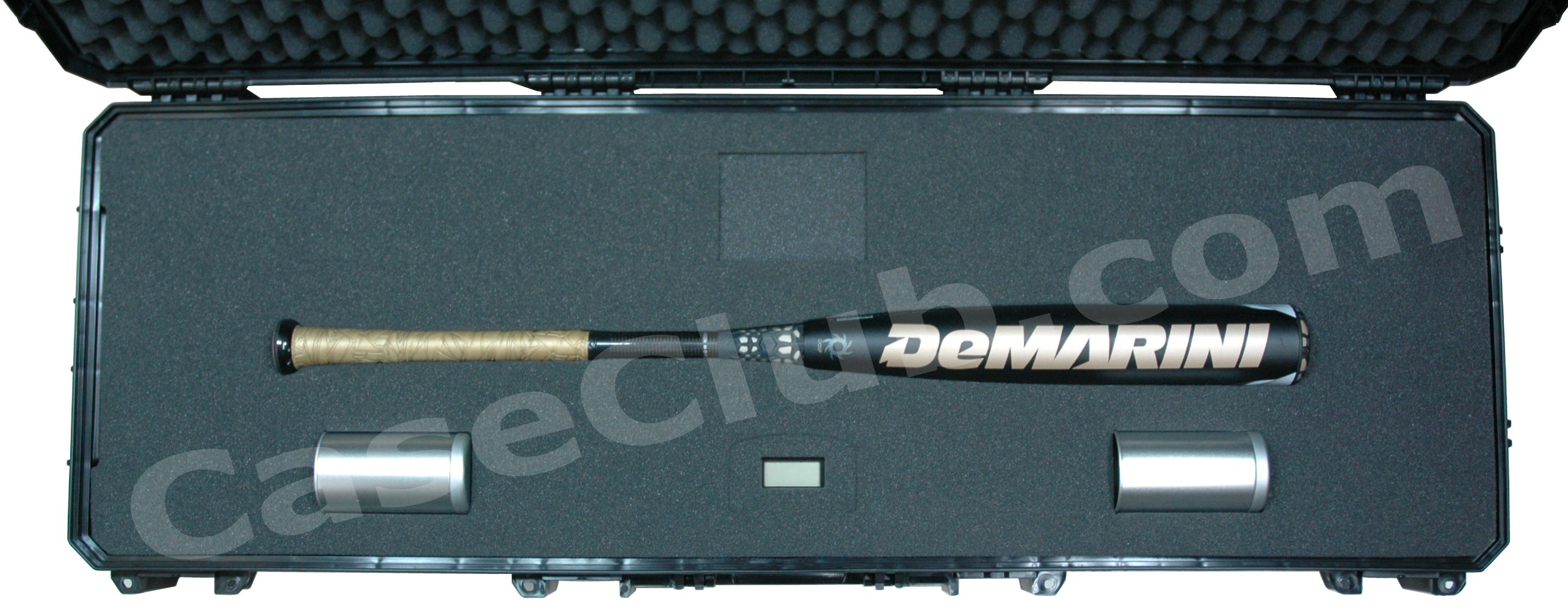 Seahorse 1530 Case Custom Foam Example: Demarini Voodoo Overlord BBCOR Baseball Bat Case