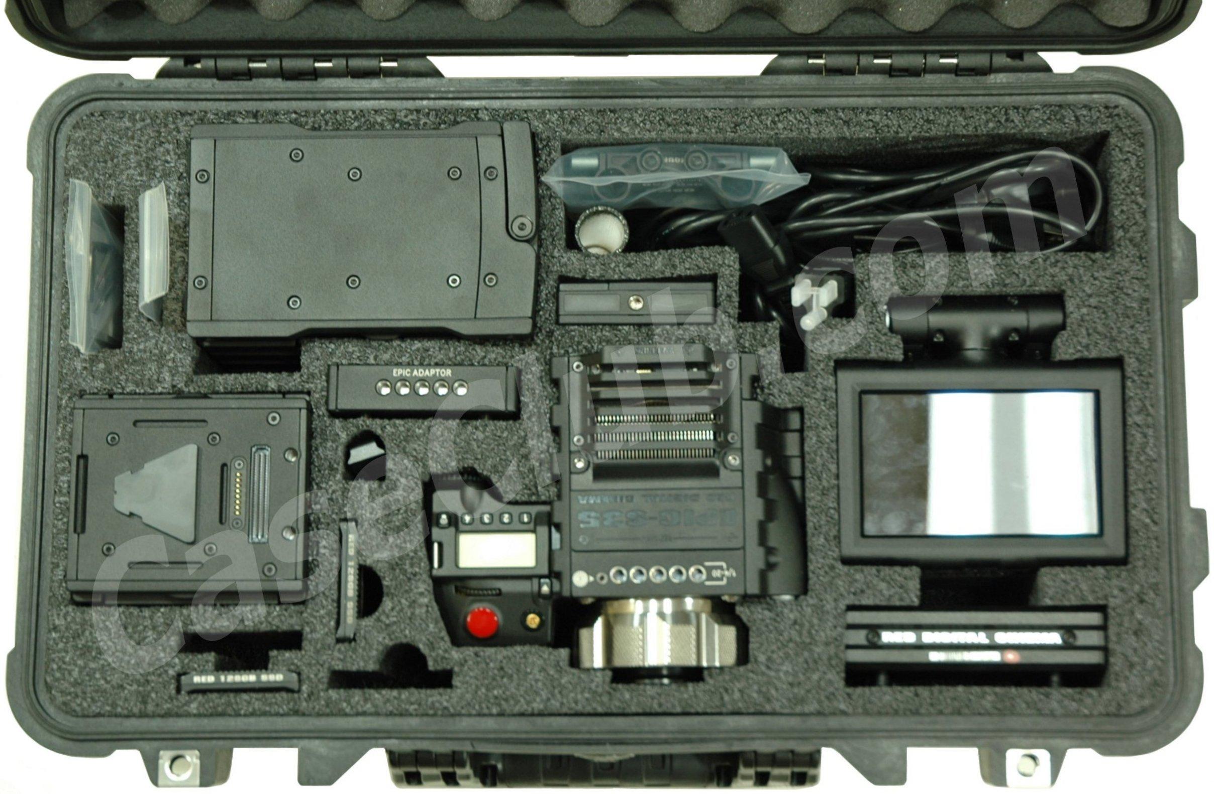 Case Club CC0151PE Case Custom Foam Example: Red Digital Cinema EPIC-S35 Case
