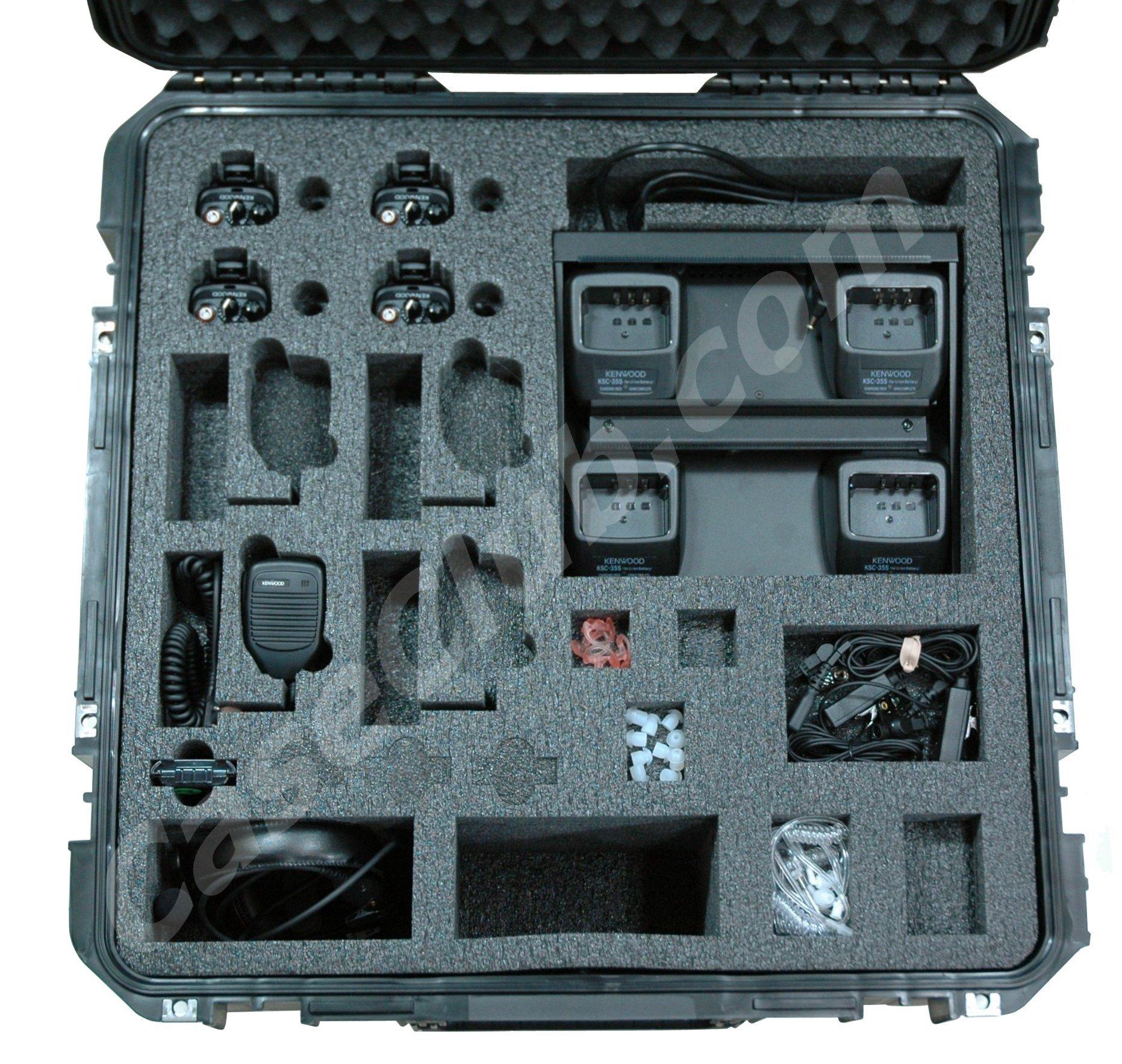 Kenwood Nexedge NX-340 Portable Radio Case - Foam Example for: SKB 3I-2222-12 Case