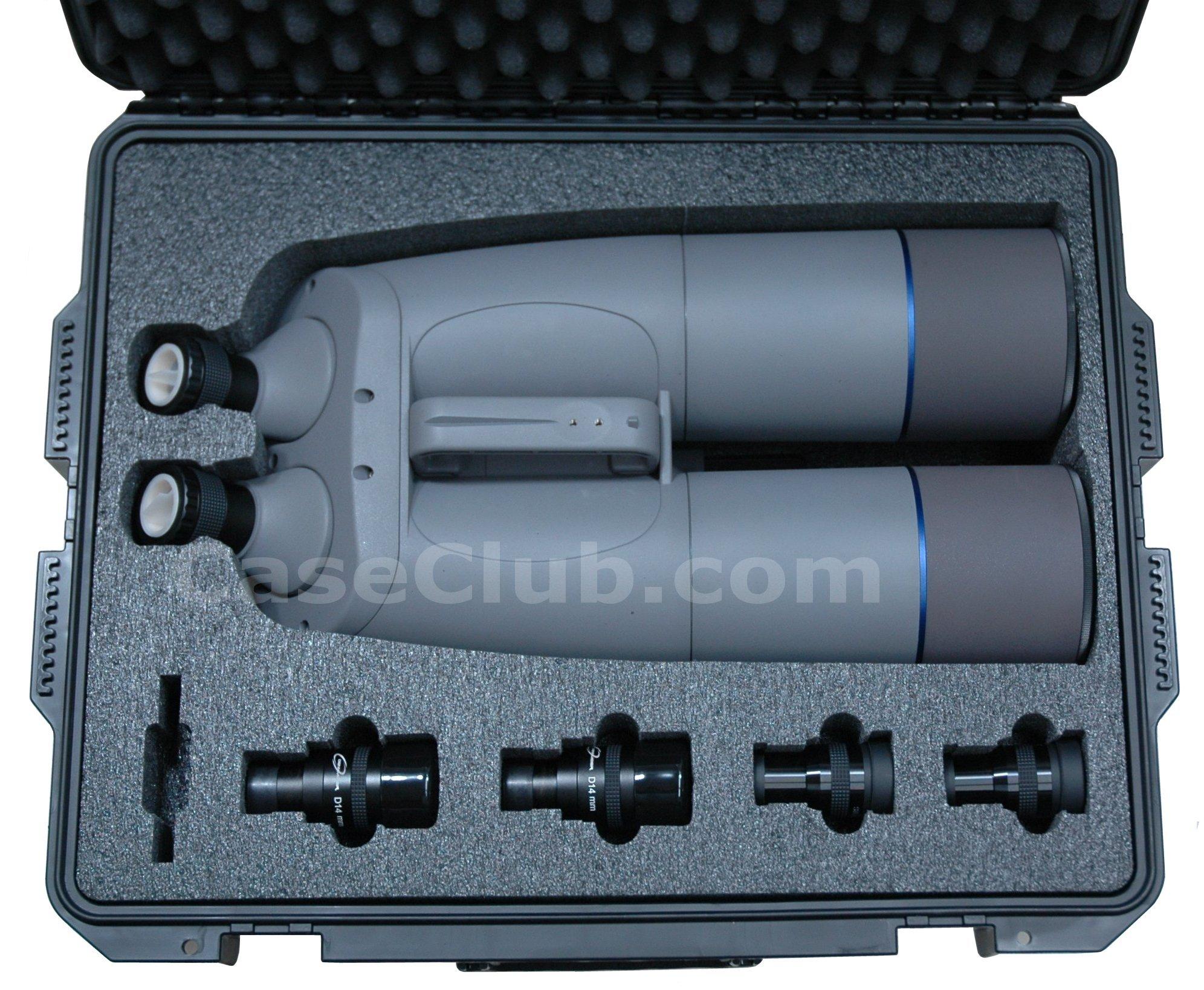 Case Club CC2700IMPE Case Custom Foam Example: Lunt Engineering Astro Binoculars Case