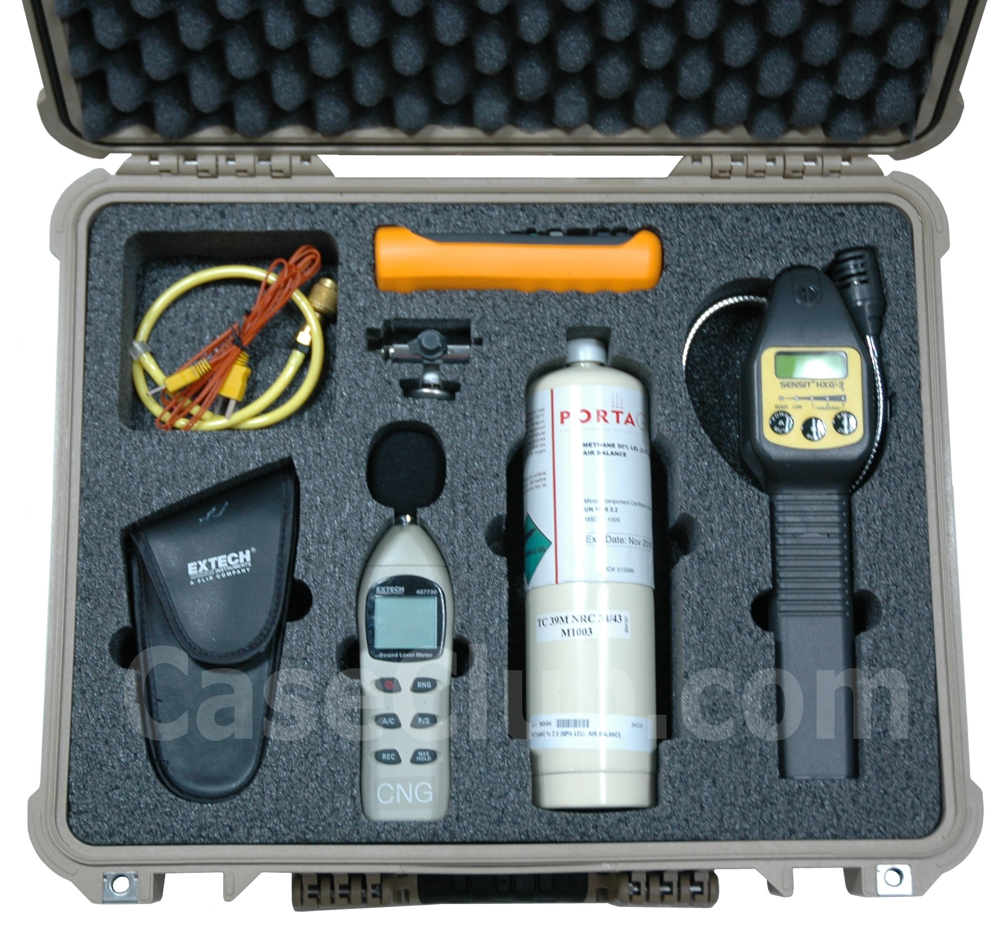 Case Club CC0551PE Case Custom Foam Example: Sensit HXG-3 Gas Leak Detector Case