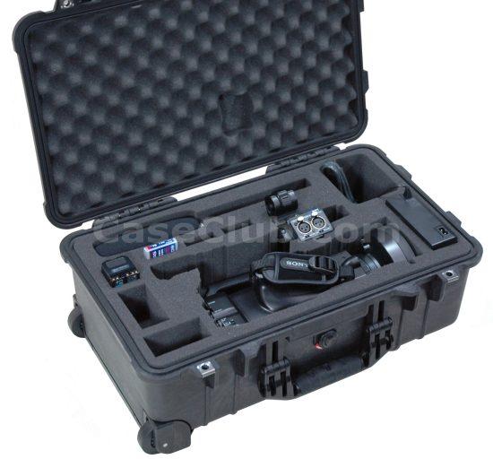 Sony PMW-200 Camera Case - Foam Example