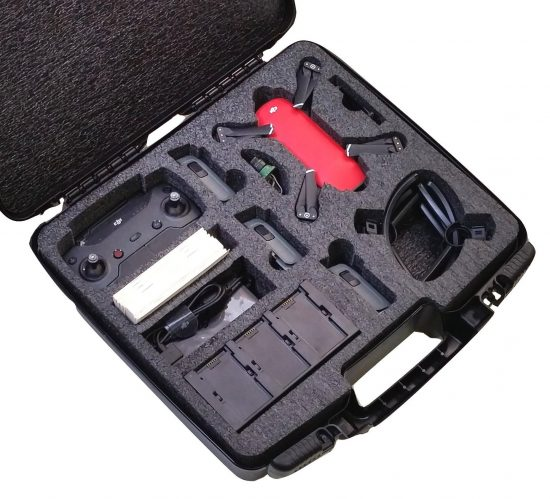 DJI Spark Fly More Drone Carry Case - Foam Example